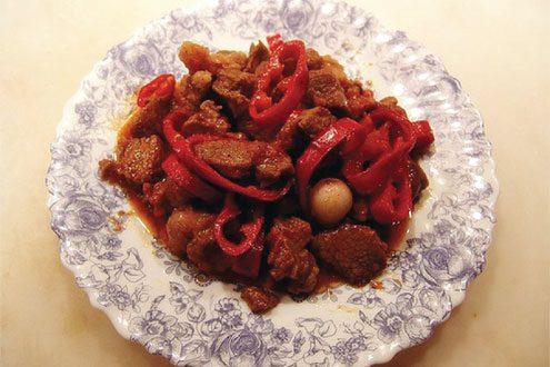 Kırmızı Biberli Et Yemeği