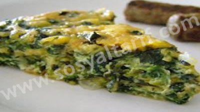 Ispanaklı Yumurtalı Omlet