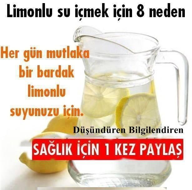 Limonlu Su İçmek için 8 Neden