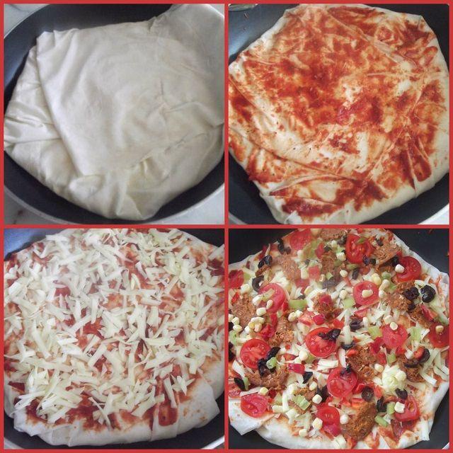 Yufkadan Pizza Yapılışı