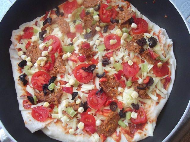 Yufkadan Pizza Yapımı
