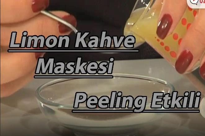 Limon kahve maskesi