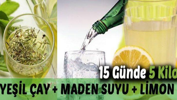 Yeşil Çay, Limon, Maden Suyu Zayıflama Kürü