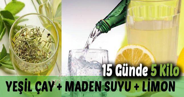 Yeşil Çay, Maden Suyu, Limon ile Zayıflama Kürü