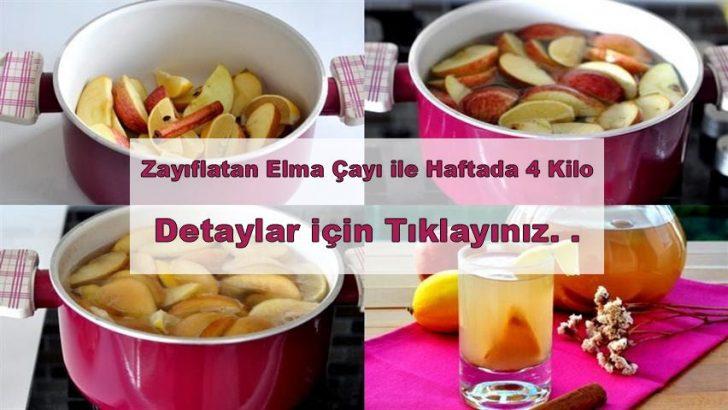 Elma Çayı ile Haftada 4 Kilo Zayıflama