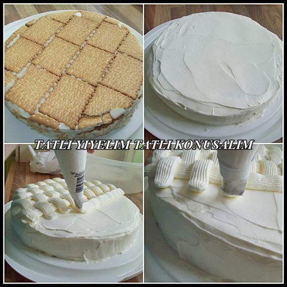 Kolay muzlu pasta