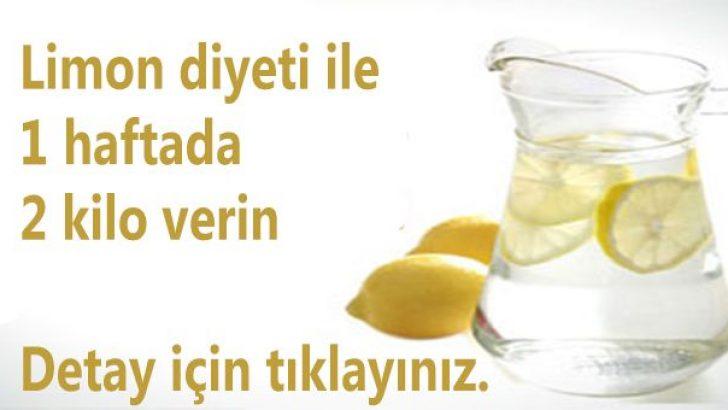 Limon Diyeti ile Haftada 2 Kilo