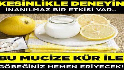 Yoğurt Limon Kürü ile Ayda 4 Kilo