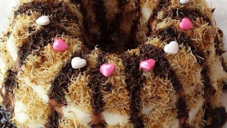 Çikolata Soslu Muhallebili Kadayıf