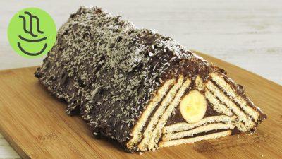 Bisküvili Muzlu Piramit Pasta