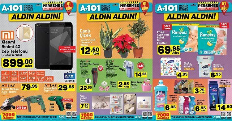 A101 9 Kasım İndirimli Ürünler