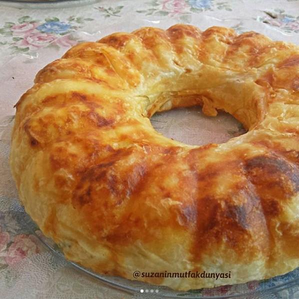 Kek Kalıbında Hazır Yufkadan Börek