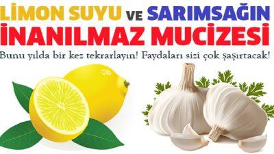 Limon Suyu ve Sarımsağın Faydaları