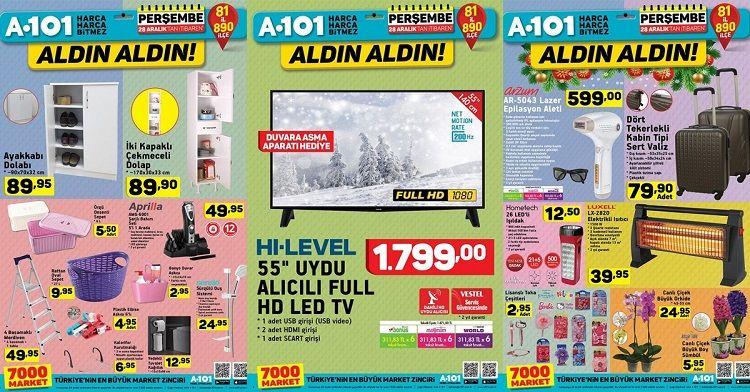 28 Aralık A101 Ürünleri