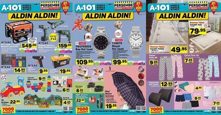 A101 21 Aralık İndirimli Ürünler