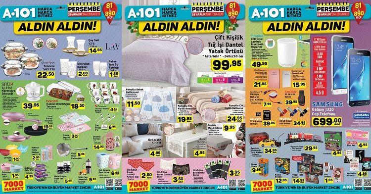 A101 28 Aralık İndirimli Ürünler