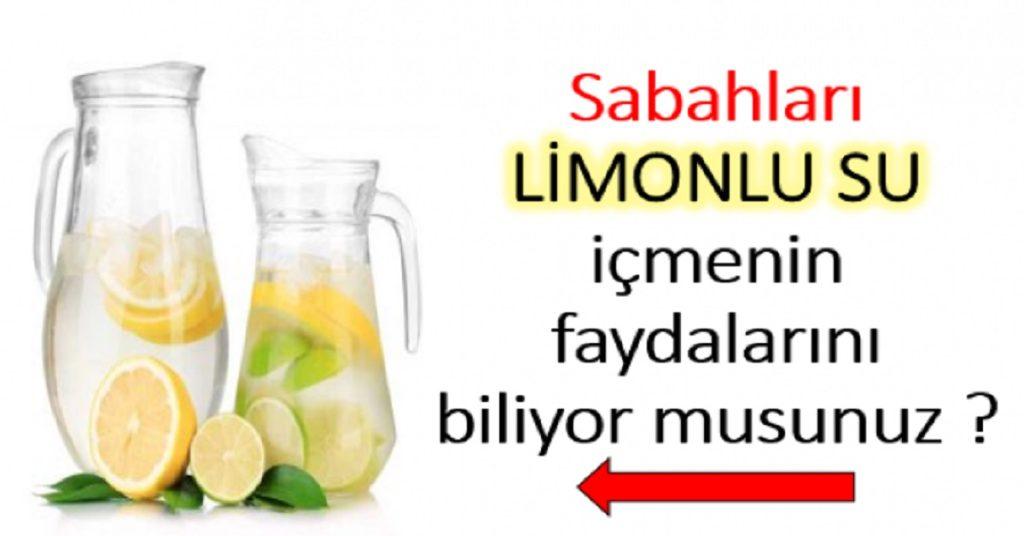 Sabah İçilen Limonlu Suyun Vücuda Faydaları