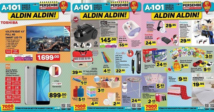 1 Şubat A101 Ürünleri