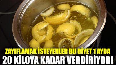 Haşlanmış Limon Diyeti ile 1 Ayda 20 Kilo Verin