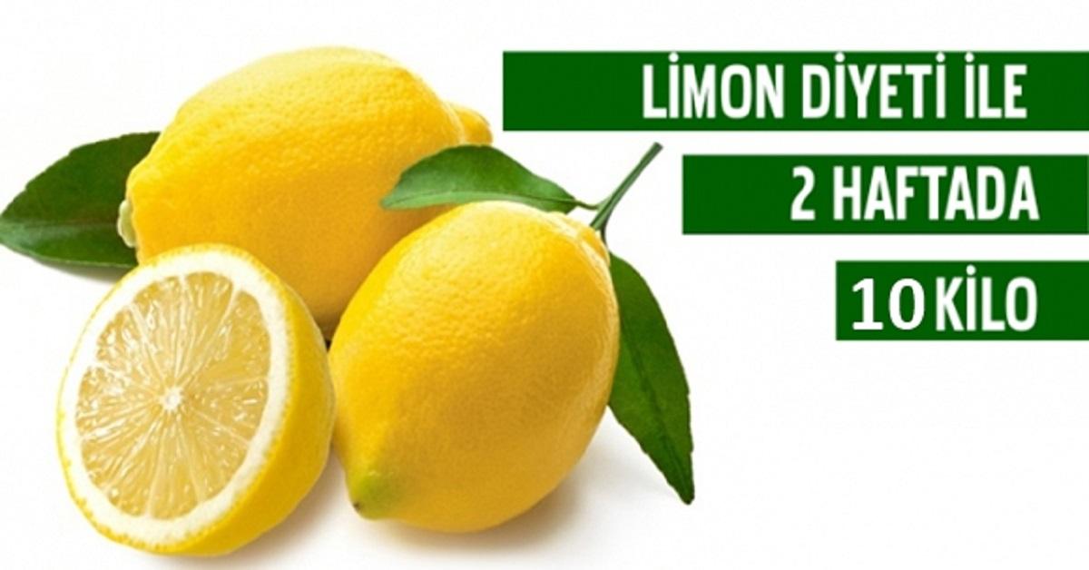 Limon Diyeti ile 2 Haftada 10 Kilo