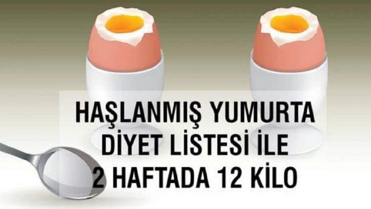 Haşlanmış Yumurta Diyeti (2 Haftada 12 Kilo)
