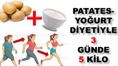 3 Günde 5 Kilo Verdiren Patates Yoğurt Diyeti
