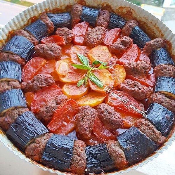 Fırında Patlıcan Köfte