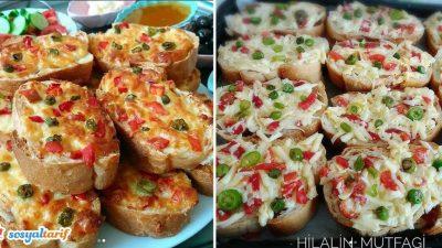Kaşarlı Ekmek Dilimleri