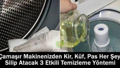 Çamaşır Makinenizden Kir, Küf, Pas Her Şeyi Silip Atacak 3 Etkili Temizleme Yöntemi