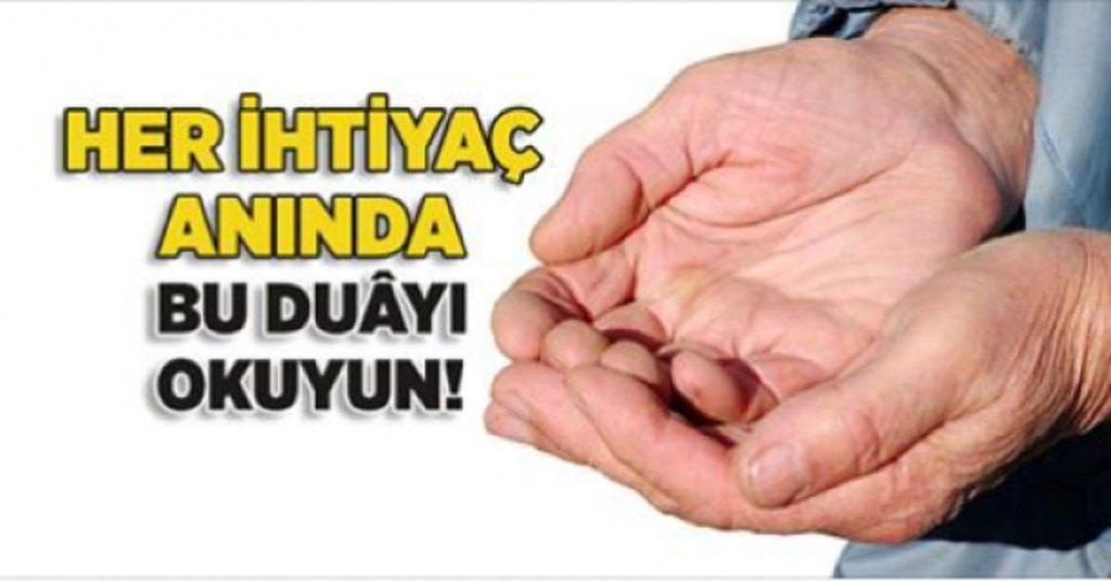 Her İhtiyaç Anında Bu Duayı Okuyun