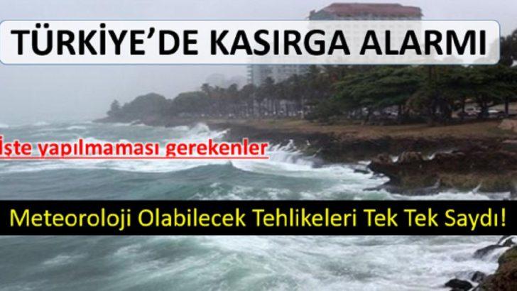 Meteoroloji 30 Eylül Pazar Günü için Uyardı, Kırbaç Fırtınası Geliyor