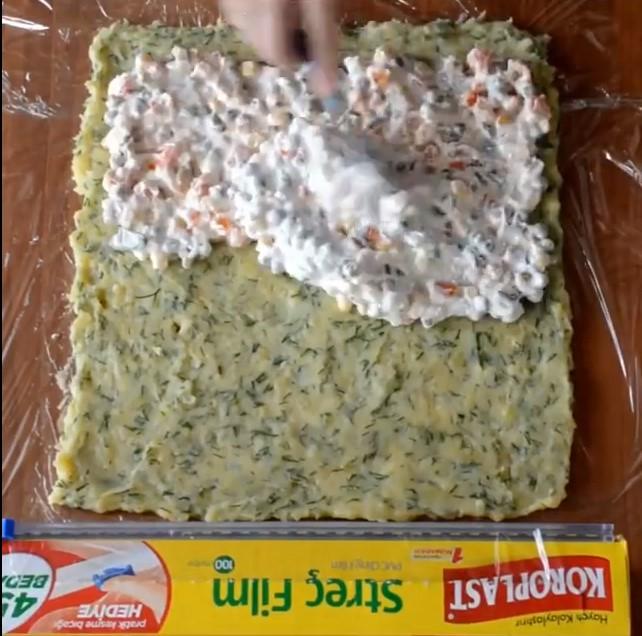 Rulo Patates Salatası Yapımı