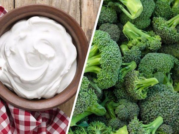 Brokoli ve yoğurt