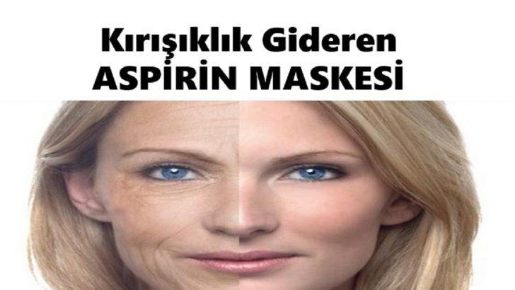 Kırışıklıkları Yok Eden Aspirin Maskesi