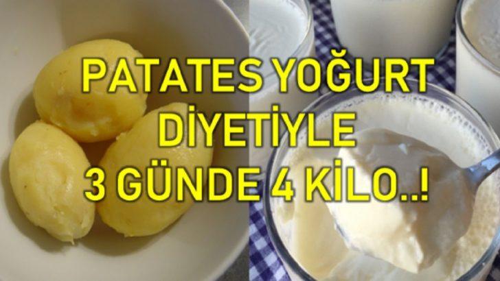 Patates Yoğurt Diyeti İle 3 Günde 4 Kilodan Kurtulun