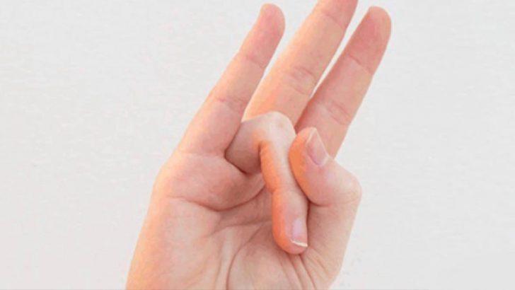 Başparmağınızla Yüzük Parmağınızı Birkaç Saniyeliğine Böyle Esnetin