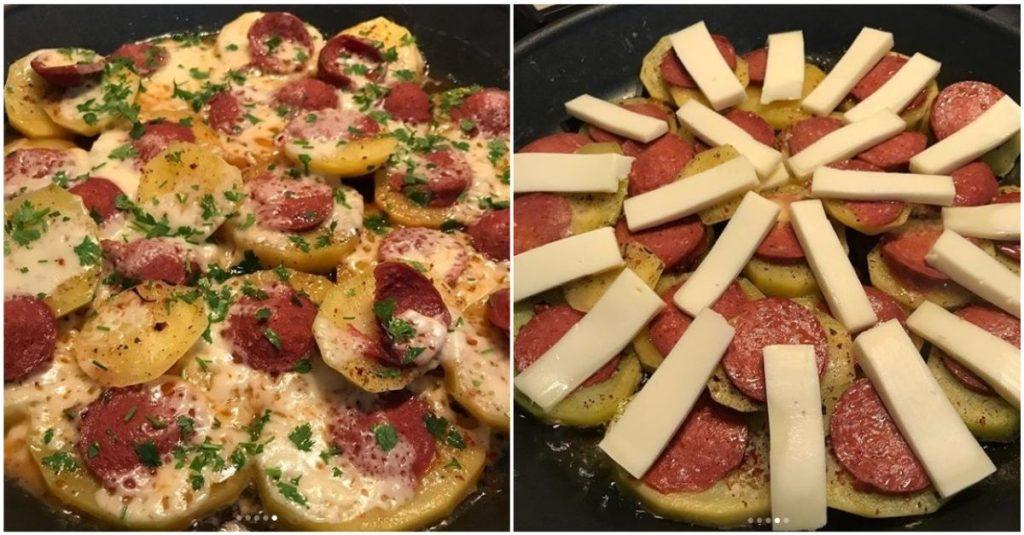Tavada Sucuklu Patates