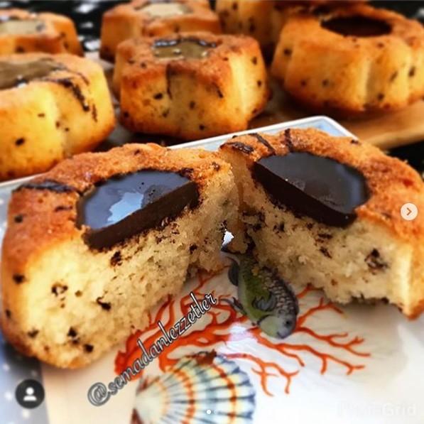 benekli muffin kek