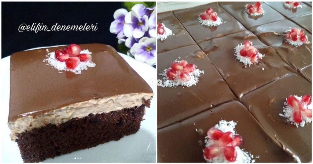Duble Çikolatalı Islak Pasta Tarifi