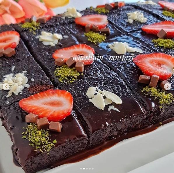 çikolatalı ıslak kek yapılışı