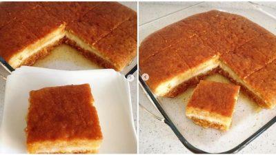 Muhallebili Ekmek Kadayıfı Tatlısı