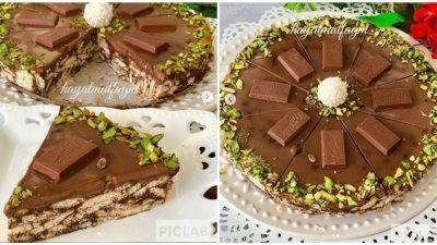 4 Malzemeli Mozaik Pasta Tarifi