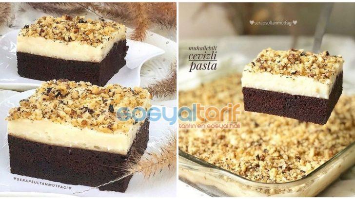 Muhallebili Cevizli Pasta Tarifi