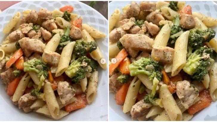Brokolili, Tavuklu Makarna Tarifi