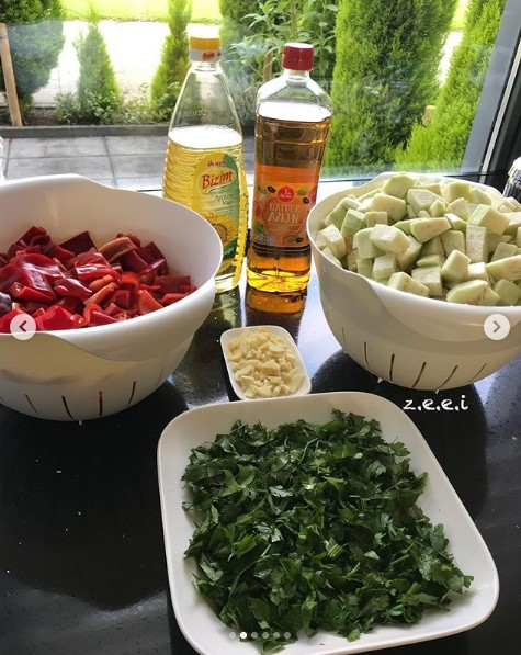 sirkeli patlıcan konservesi malzemeleri