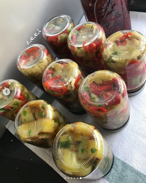 sirkeli patlıcan konservesi