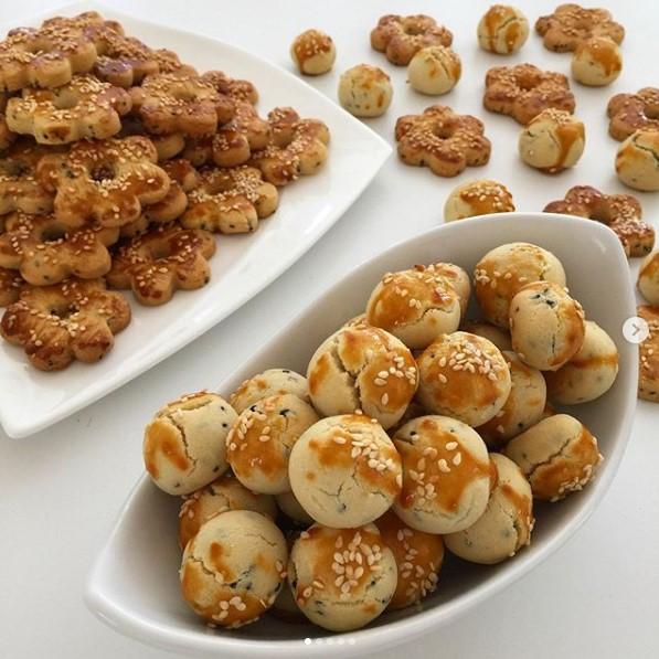 çörekotlu tuzlu kurabiye yapımı