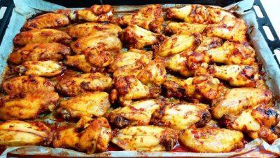 Fırında Nefis Tavuk Kanatları
