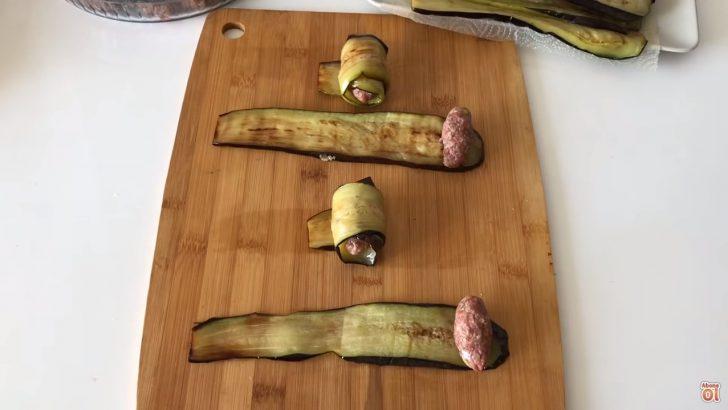 Köfteli Patlıcan ve Kabak Sarma