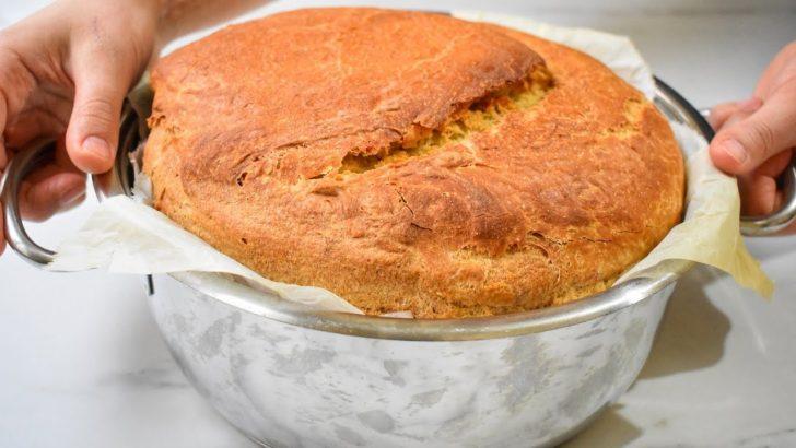 Hamur Yoğurmadan Tencerede Ekmek Yapımı